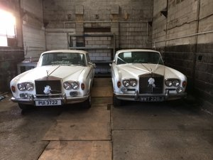 White rolls royce silvershadow wedding cars For Sale