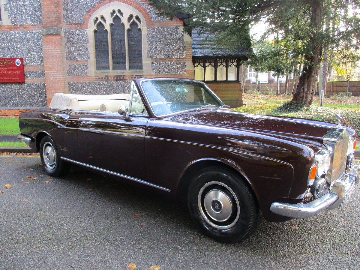 ROLLS CORNICHE CONVERTIBLE 1972 35,900 MILES   ONLY For Sale (picture 1 of 22)