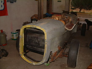 1929 Land Speed Record Airplane Engine Race Car Remnant