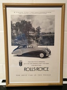 1950 Rolls-Royce Framed Advert Original