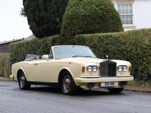 1985 Rolls Royce Corniche Convertible, 57k, FSH For Sale