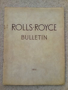 1951 Rolls Royce Bulletin For Sale