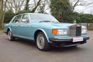 1990 G Rolls Royce Silver Spirit MK II in Nordic Blue For Sale