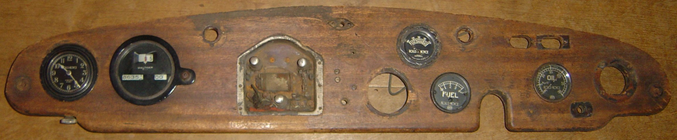 1927 Rolls Royce Ghost dashboard and instruments For Sale (picture 1 of 1)