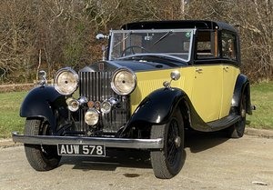 1934 Rolls-Royce 20/25 Barker Sedanca de Ville GBA76 For Sale