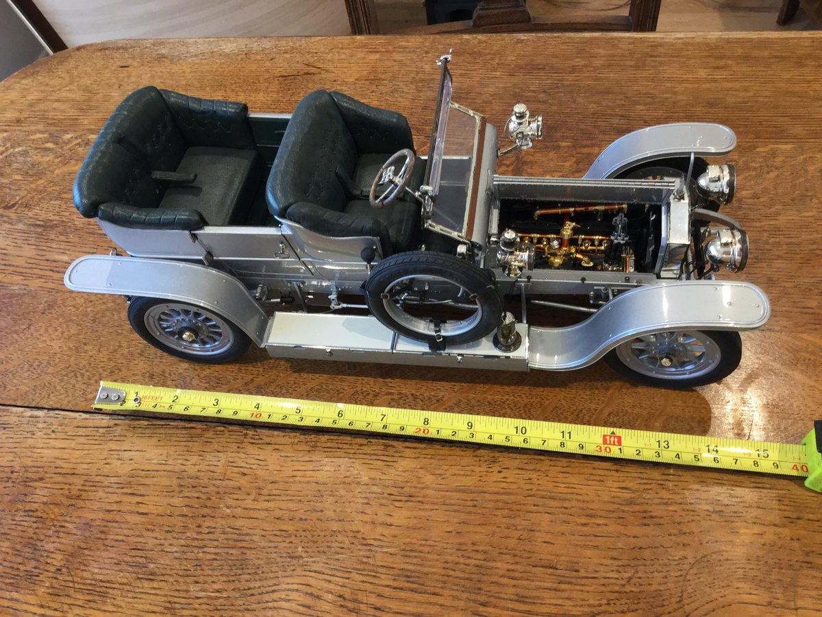 RR silver ghost franklin mint 1/12 scale metal For Sale (picture 5 of 6)
