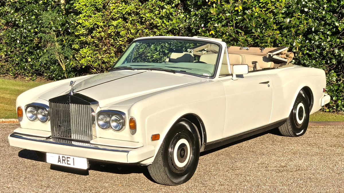 1988 ROLLS ROYCE CORNICHE CONVERTIBLE MKII      LHD For Sale (picture 1 of 6)