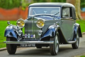 1934 Rolls Royce 20/25 Fixed Head Coupe by Barker For Sale