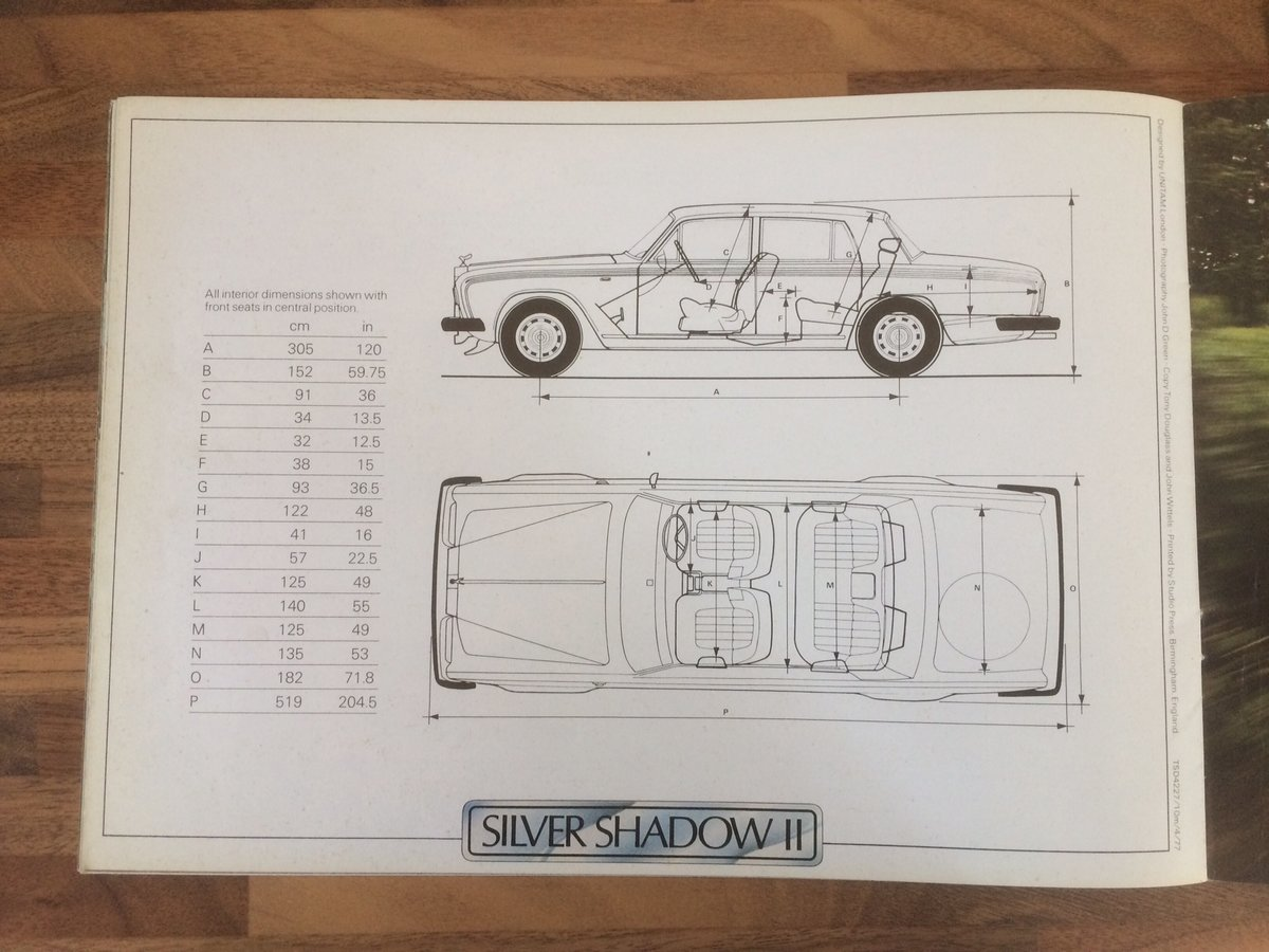 Rolls Royce Silver Shadow sales brochure For Sale (picture 5 of 5)