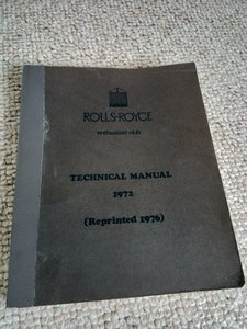 Rolls Royce technical manual 1972 (reprint 1976)