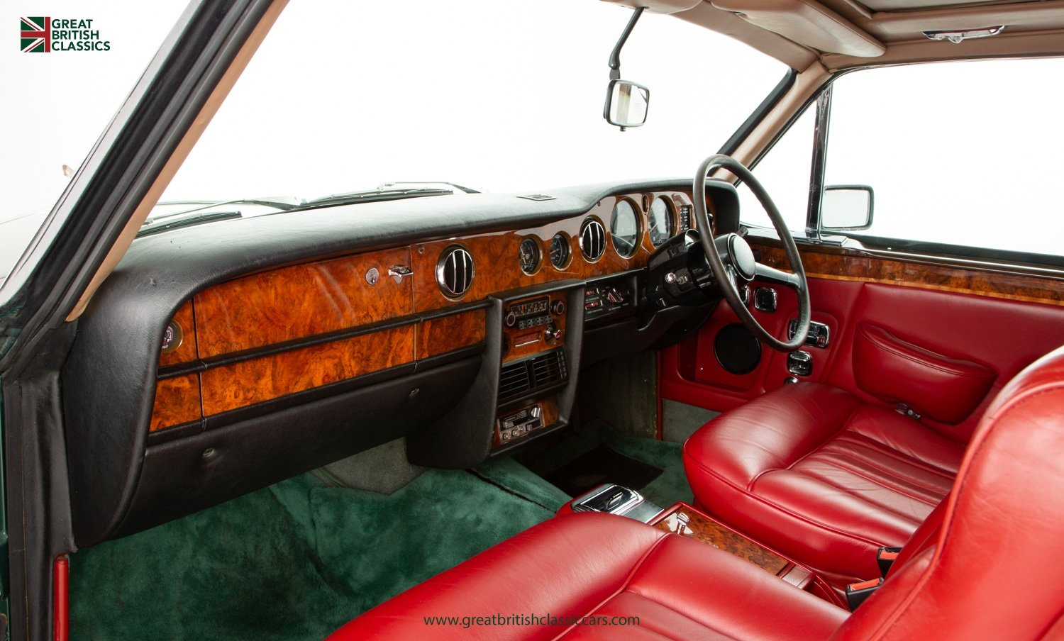 1978 ROLLS ROYCE CORNICHE // HIGHLAND GREEN // HUGE HISTORY FILE  For Sale (picture 16 of 24)
