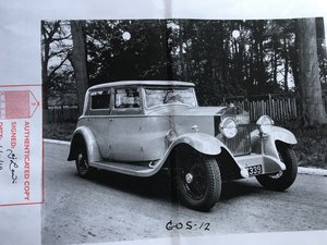 1931 Very rare 20/25 sports saloon for restoration