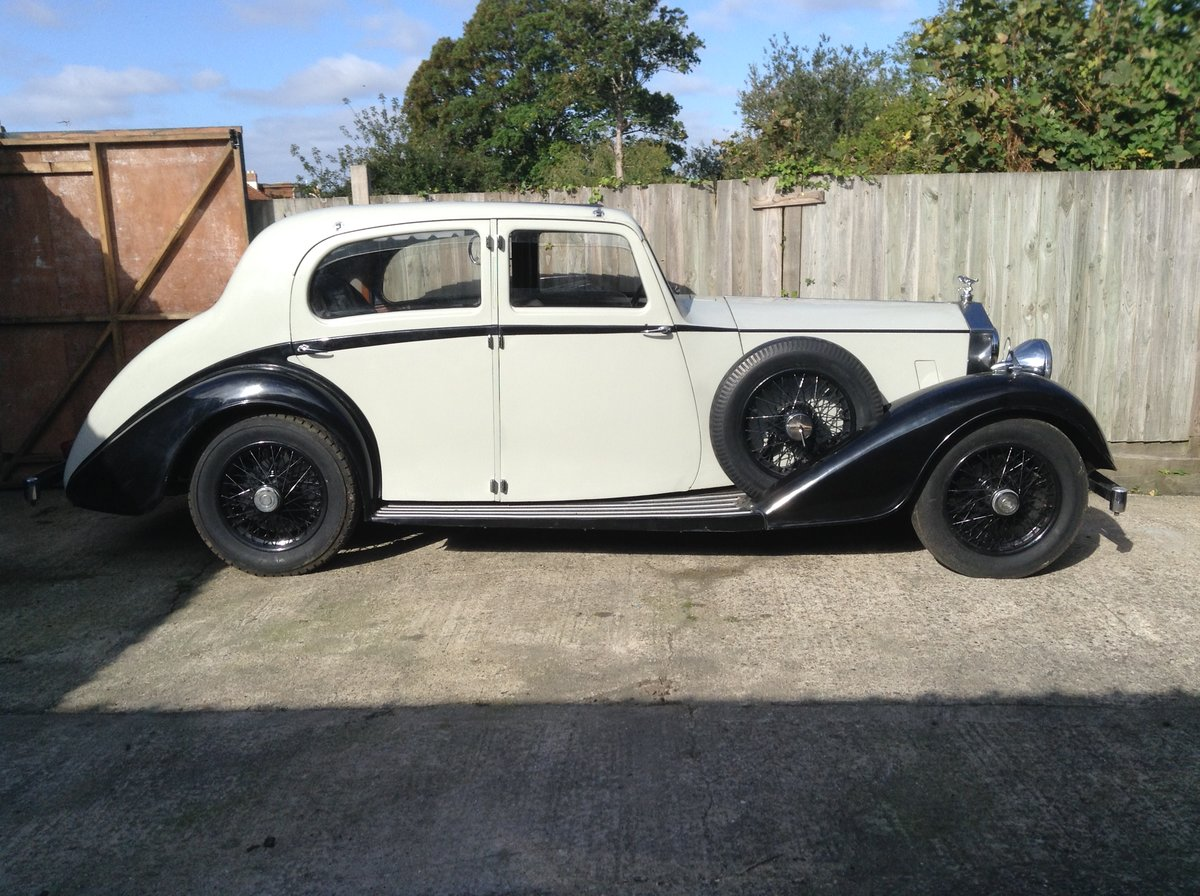 1936 Rolls Royce 25/30 Limo with glass division For Sale (picture 2 of 6)