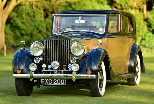 1938 Rolls RoycePhantom III Sedanca by H.J. Mulliner. For Sale (picture 1 of 6)