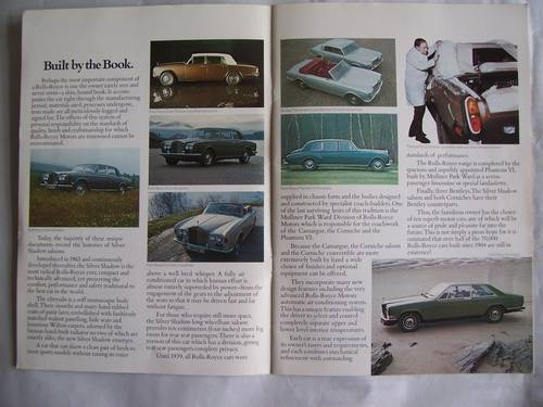 ROLLS ROYCE PROMOTION BROCHURE 1976 For Sale (picture 3 of 6)
