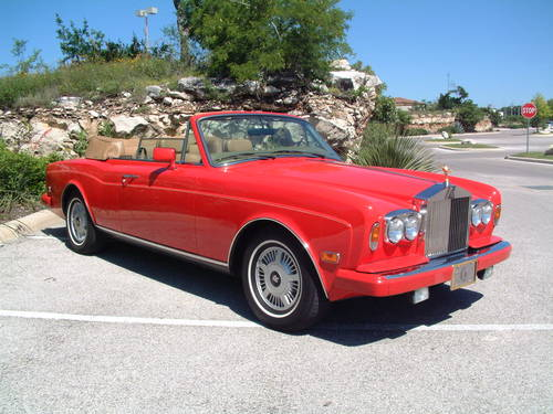 1988 Rolls Royce Corniche II Convertible LHD For Sale (picture 1 of 6)
