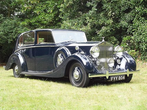 1939 ROLLS ROYCE WRAITH by H.J.MULLINER 4 DOOR RAZOR SPORTS  SOLD (picture 1 of 6)