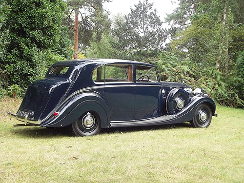 1939 ROLLS ROYCE WRAITH by H.J.MULLINER 4 DOOR RAZOR SPORTS  SOLD (picture 2 of 6)
