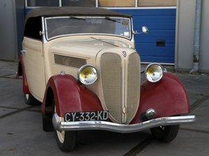 Rosengart LR4N2 cabriolet 1937. For Sale