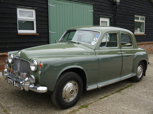 1960 ROVER P4 100 SALOON WITH OVERDRIVE - GREAT VALUE !! SOLD (picture 2 of 6)