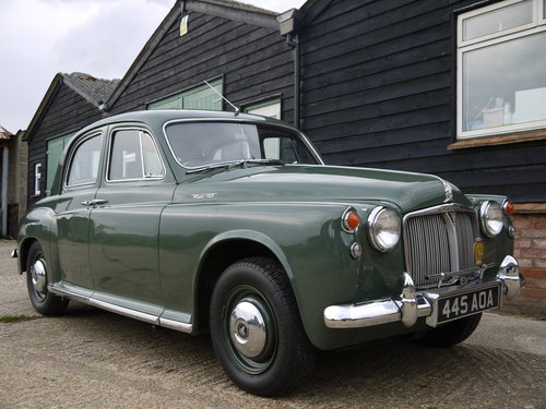 1959 ROVER P4 100 - BEAUTIFUL CAR WITH INTERESTING HISTORY !! SOLD (picture 1 of 6)