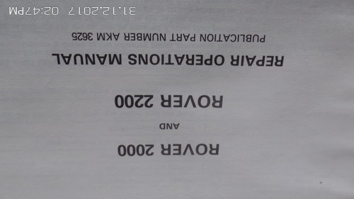 rover 2000  p6 WORKSHOPMANUAL For Sale (picture 4 of 4)