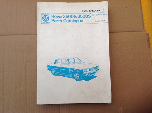 Rover P6 3500 3500 S Parts Catalogue  For Sale (picture 1 of 2)