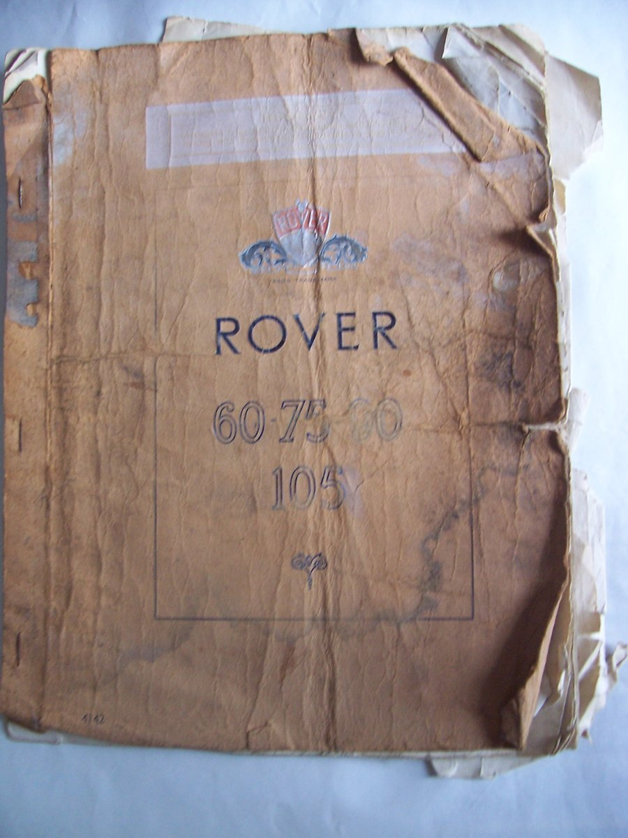 ROVER 60-75-90-105 Owner's Instruction Manual For Sale (picture 1 of 6)