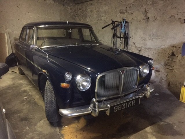 1964 Rover 3 litre coupe, blue, in running order SOLD (picture 1 of 6)
