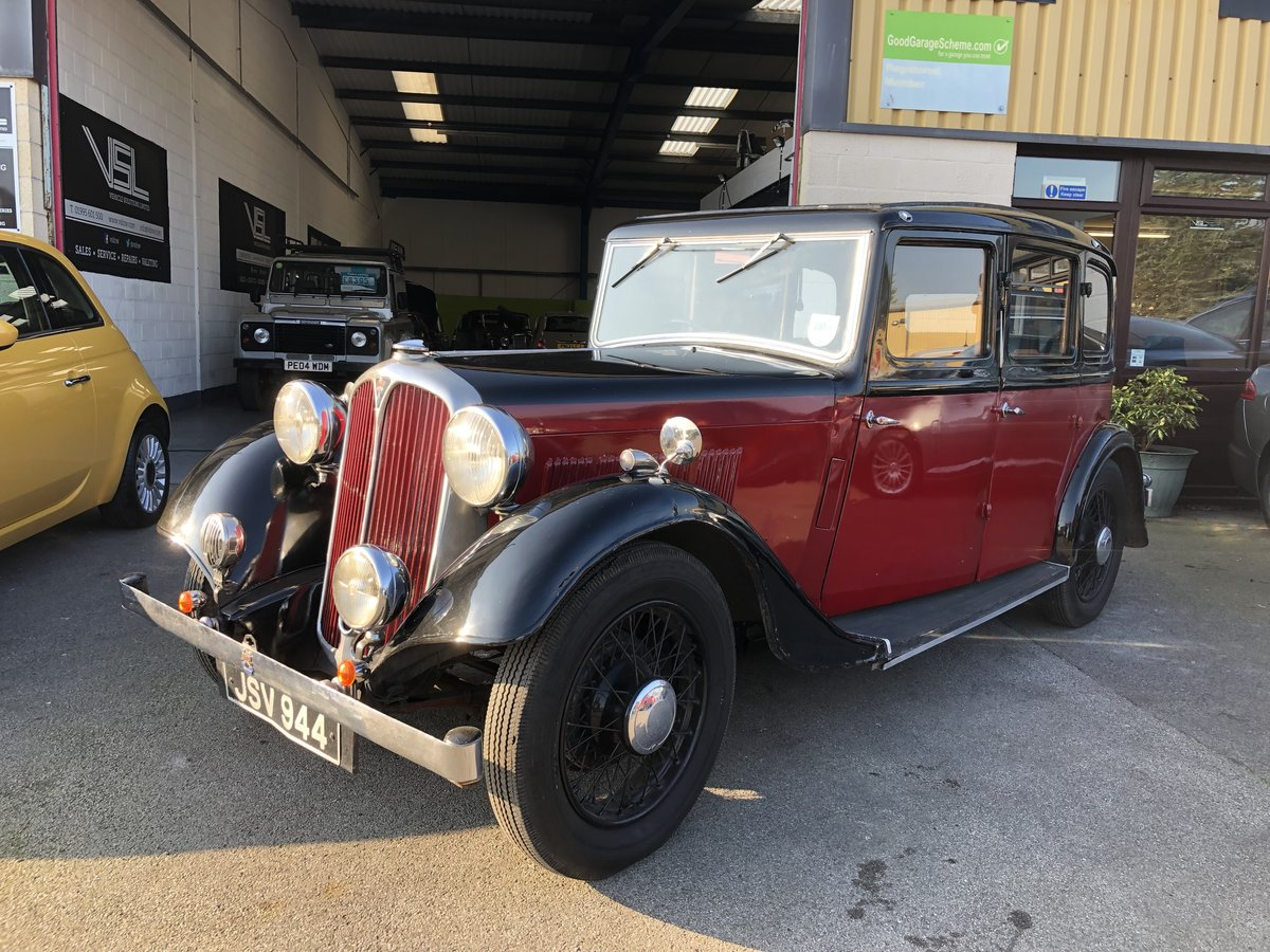 1934 Honest Rover 12 Six Light Saloon 4 cylinder For Sale (picture 1 of 6)