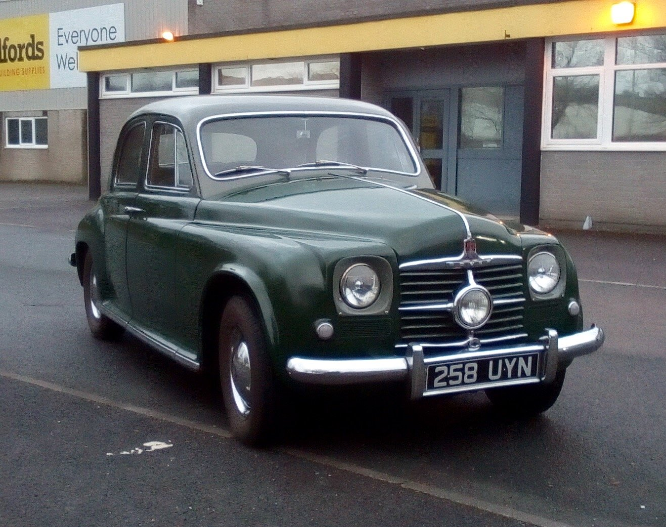 RARE-1951 ROVER 75 SPORTS SALOON.FULLY ROAD WORTHY For Sale (picture 1 of 6)