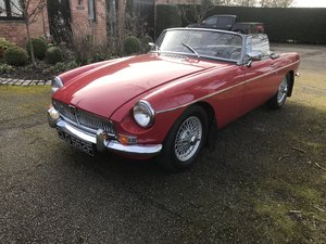 1968 Red Coverable/Cabriolet MGB Roadster For Sale