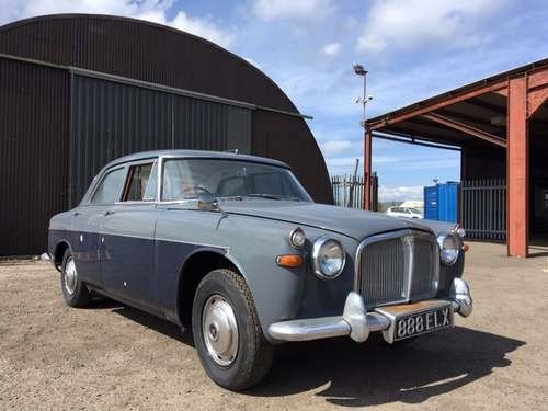 1962 Rover 3 Litre at Morris Leslie Classic Auction 25th May SOLD by Auction (picture 1 of 6)
