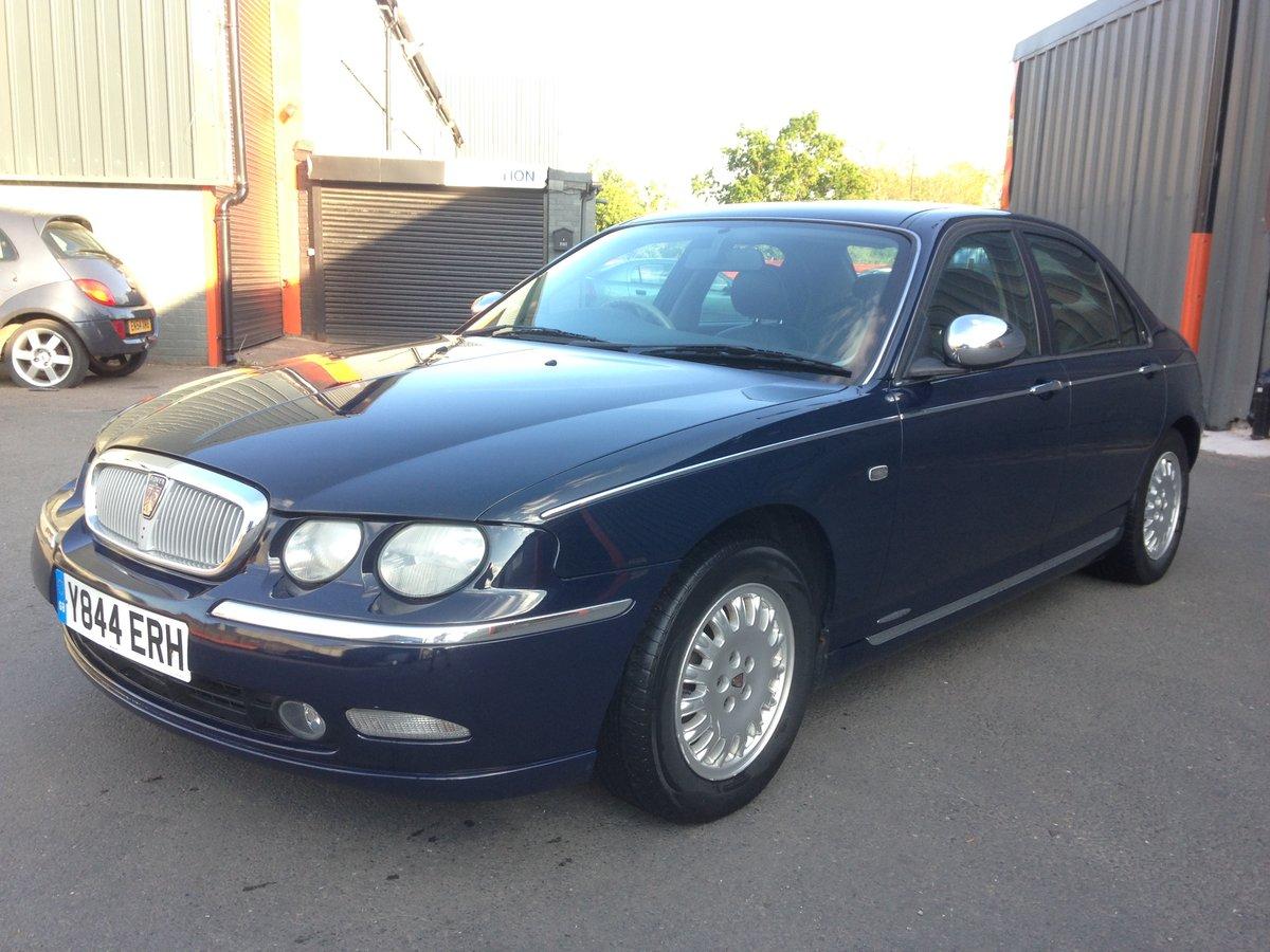 2001 ROVER 75 CONNOISSEUR SE AUTO 2.5V6 78k LAUNCH CAR SPEC For Sale (picture 1 of 6)