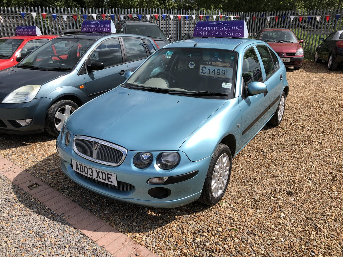 2003 Rover 25 1.6 iL Stepspeed 5dr For Sale (picture 2 of 6)