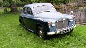1962 Two tone blue P4 Rover 110 for sale For Sale