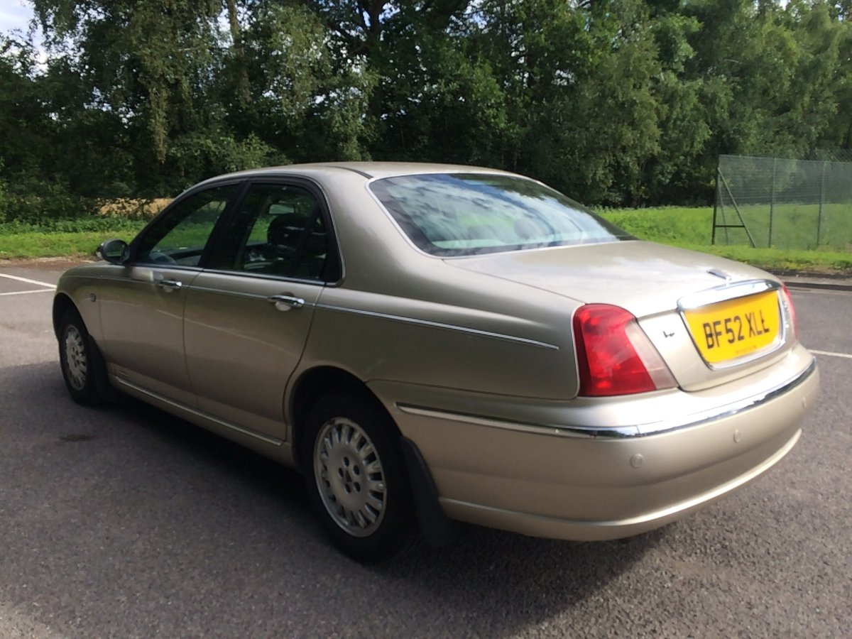 2002 ROVER 75 CONNOISSEUR 2.5 V6 LOW MILEAGE For Sale (picture 4 of 6)