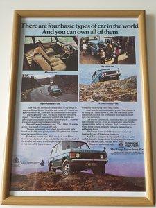 Original 1970 Range Rover Advert