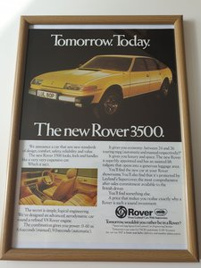 1976 Original  Rover 3500 Advert