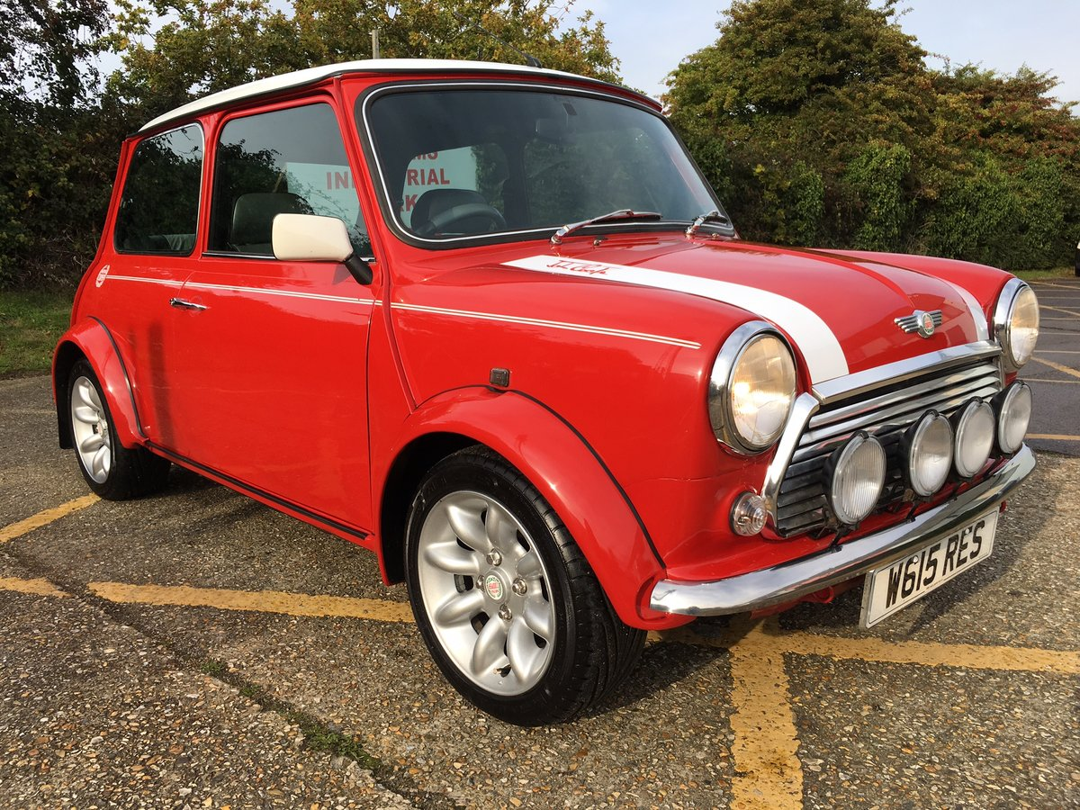 2000 Rover Mini Cooper Sport. Solar Red. 65k. Stunning. For Sale (picture 1 of 6)