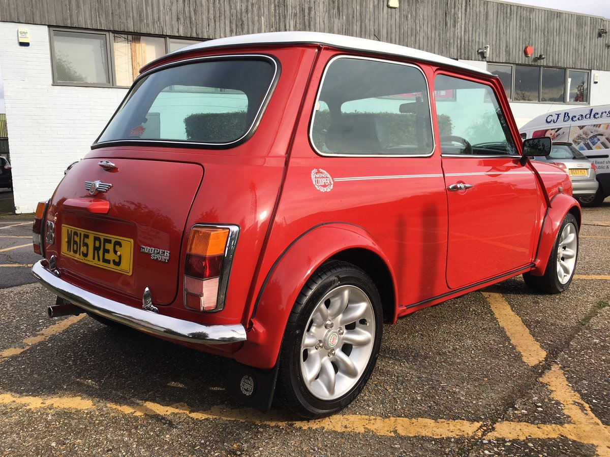2000 Rover Mini Cooper Sport. Solar Red. 65k. Stunning. For Sale (picture 2 of 6)