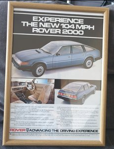 1982 Original Rover SD1 Advert