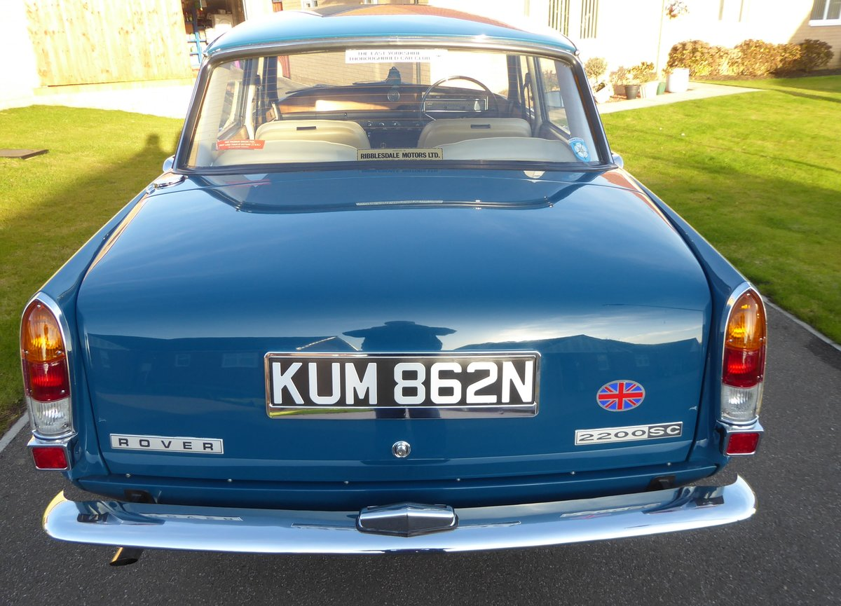1975 Rover 2200 SC ( Manual Gearbox) Single carburetor. For Sale (picture 6 of 6)