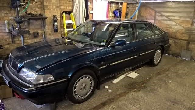 1996 Rover 827 Sterling, Automatic Blue  SOLD (picture 2 of 6)