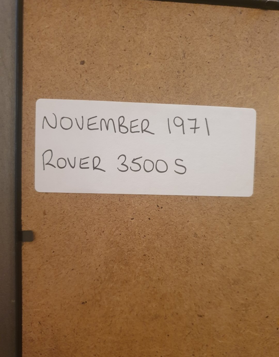 Original 1971 Rover 3500 Framed Advert  For Sale (picture 2 of 2)