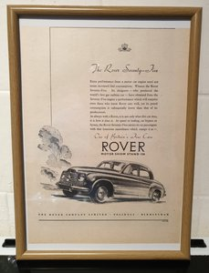 1950 Rover Seventy Five Advert Original