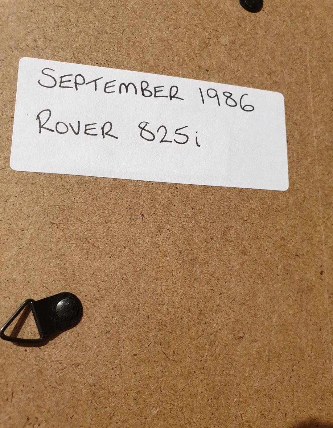 1986 Original Rover 825i Framed Advert For Sale (picture 2 of 2)