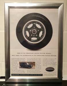 1996 Overfinch Framed Advert Original