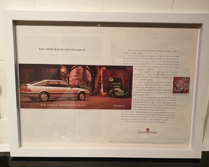 Original Rover 800 Framed Advert