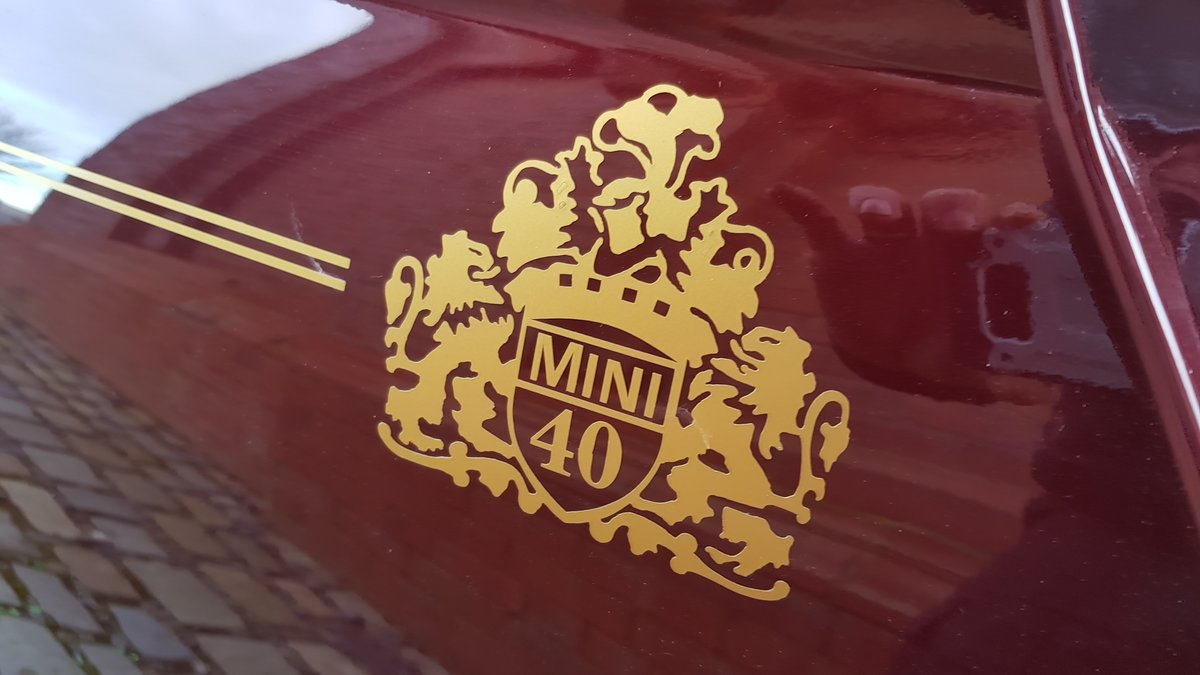 1999 ROVER MINI COOPER 40TH ANNIVERSARY EDITION IN MULBERRY * For Sale (picture 6 of 6)